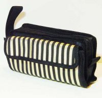 Harajuku Style Makeup Bag Pouch - Black Gold Stripes