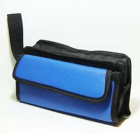 Harajuku Makeup Bag Pouch Blue Black