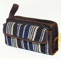 Harajuku Style Makeup Bag Pouch - Brown Blue