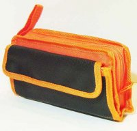 Harajuku Style Makeup Bag Pouch - Orange Black