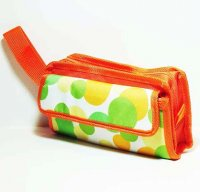 Harajuku Makeup Bag Yellow Green Polka Dot Pouch