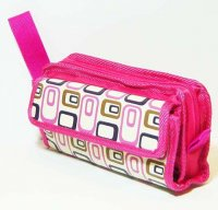 Harajuku Style Makeup Bag Pouch - Pink Oval Patterns