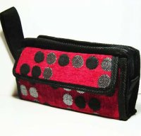 Harajuku Style Makeup Bag Pouch - Red Black Polka Dots
