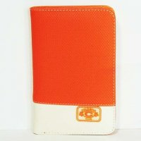Harajuku Style Wallet Purse - Orange/Cream