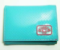 Harajuku Style Trifold Wallet Patent Leather Blue Color