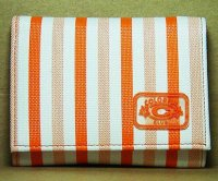 Harajuku Style Trifold Wallet Orange Stripes