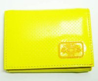 Harajuku Style Trifold Wallet Patent Leather Yellow