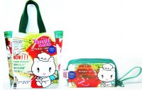 Tenshi Neko Kawaii Cheesecake Shopping Bag & Wrist Wallet Purse