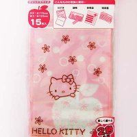 Hello Kitty Flowers Cute Plastic Ziplock Gift Bags - 15 pcs
