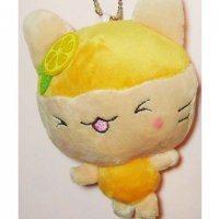 Kawaii Plushie Orange Fruit Cat Keyring Strap