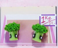 Vegetable Broccoli Handcrafted Clay Earrings