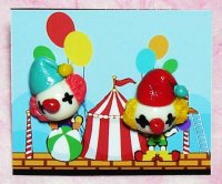 Colorful Clowns Clay Earrings