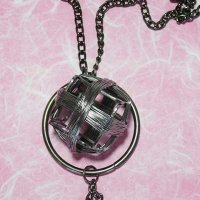 Handmade Wire Cube Pendant Necklace