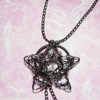Handmade Wire Star Pendant Necklace