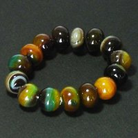 Natural Genuine Yellow/Green Agate Gemstone Bracelet