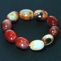 Natural Genuine Red Agate Gemstone Bracelet