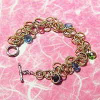 Colorful Cute Multi Links Chain Swarovski Crystal Bracelet