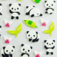 Baby Pandas Felt Decoration Sticker Sheet