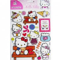 Hello Kitty Raised Epoxy Kawaii Sparkly Sticker Sheet