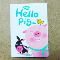 Hello Pig Kawaii Cute Small Notebook Planner - White