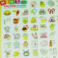 Mini Factory Travel Cute Scrapbook Sticker Sheet