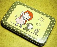 Little Girl and Monkey Deco Stickers Box