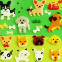 Cute Puppy Dogs Raised Decoration Sticker Sheet