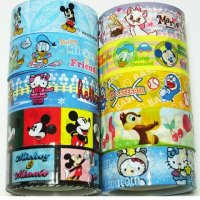 Disney and Hello Kitty Kawaii Mixed Deco Tape Set E - 10 rolls