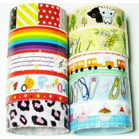 Cute Colorful Assorted Deco Tape Set B - 10 Rolls