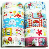 Cute Deco Tape Mixed Set G - 10 rolls