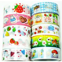 Cute Deco Tape Mixed Set H - 10 rolls