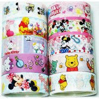 Disney and Hello Kitty Kawaii Mixed Deco Tape Set D - 10 rolls