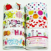 Decorative Tape Mixed Cute Designs Set M1 - 10 rolls