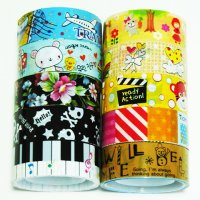 Cute 10 roll Decorative Tape Mixed Set P1