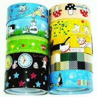 Cute 10 roll Decorative Tape Mixed Set P2