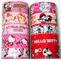 Disney and Hello Kitty Cute Assorted Deco Tape Set F - 10 rolls
